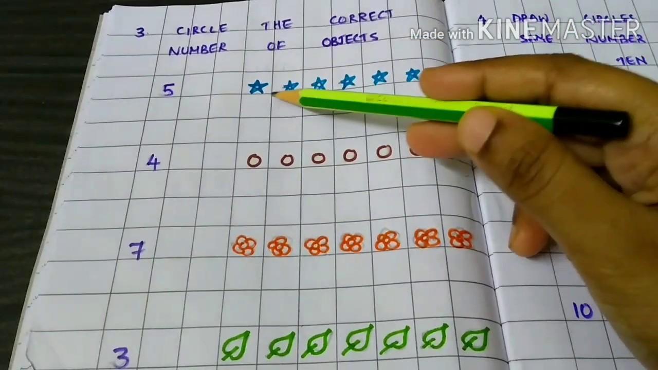 Math Worksheet For Lkg Students
