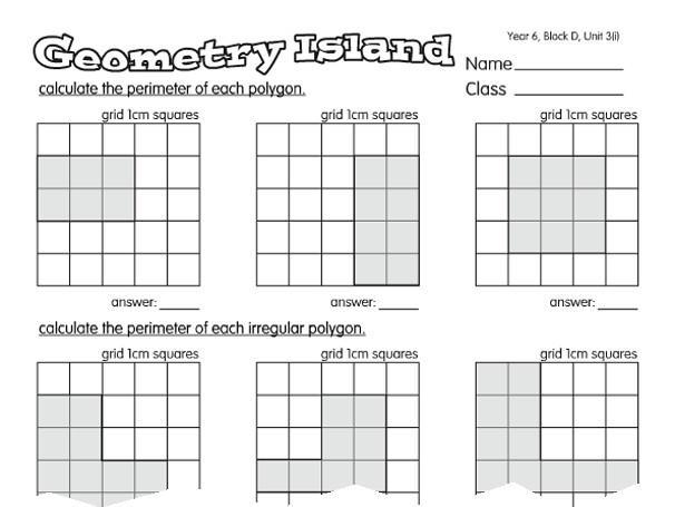 Math Worksheet Island Answer Key