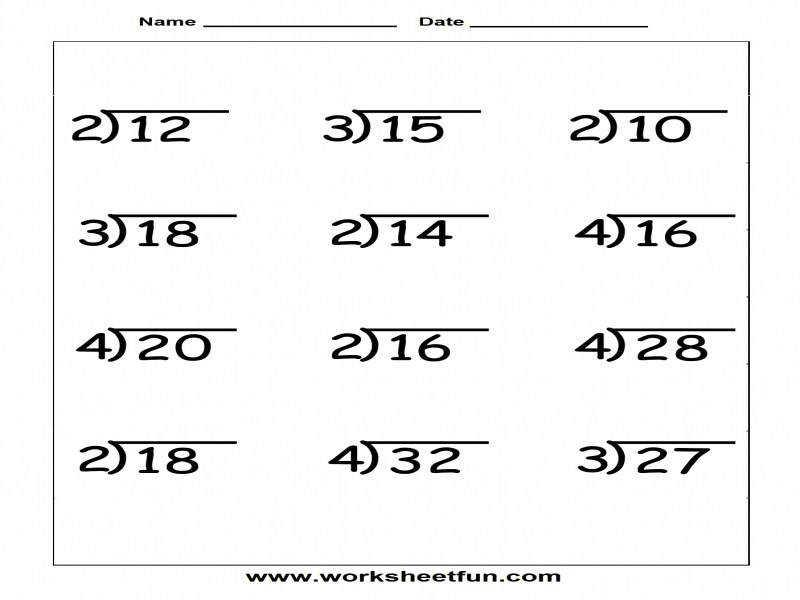 Math Worksheets Division With Remainders 6