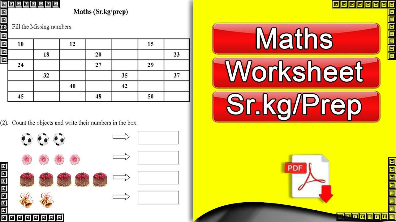 Math Worksheets For Jr Kg Students 7