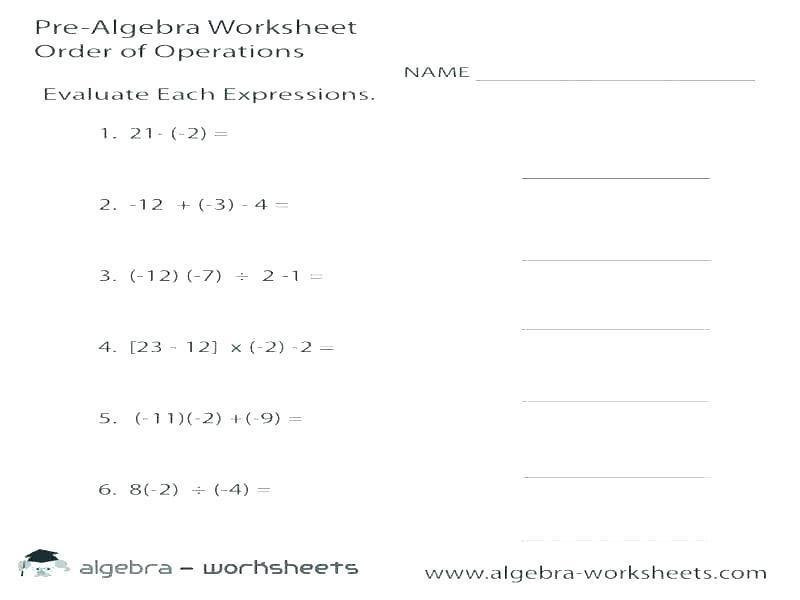 Math Worksheets Integers 1