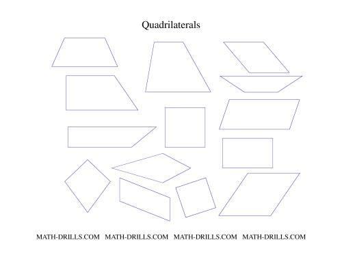 3rd Grade Math Worksheets Quadrilaterals