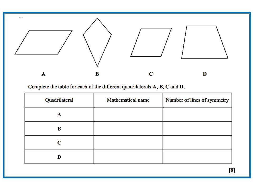 5th Grade Math Worksheets Quadrilaterals