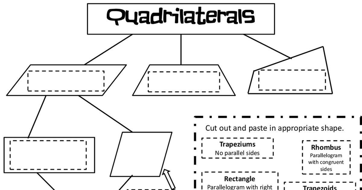 Grade 4 Math Worksheets Quadrilaterals