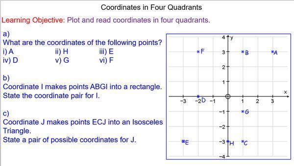 Math Grid Worksheets Grade 4