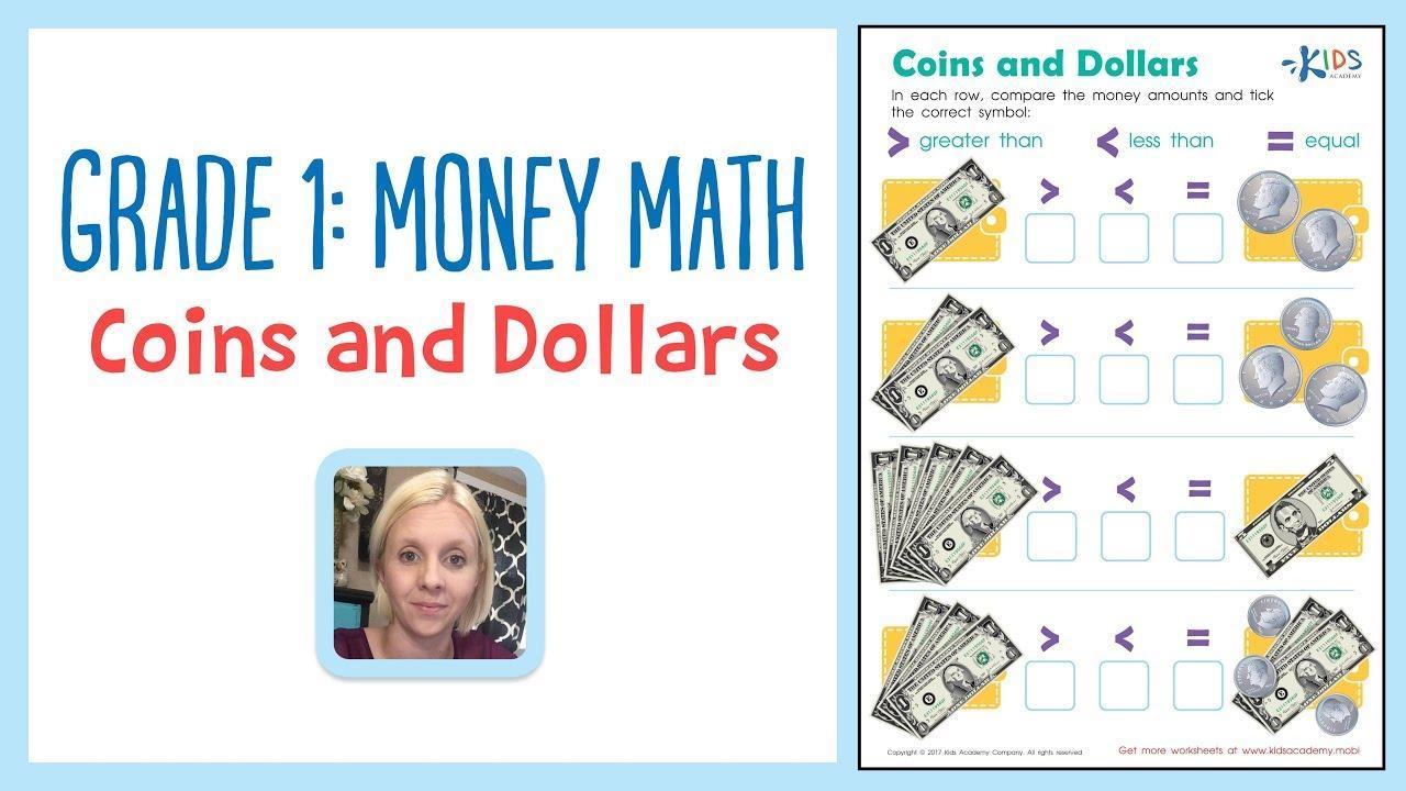 Math Money Worksheets Grade 1