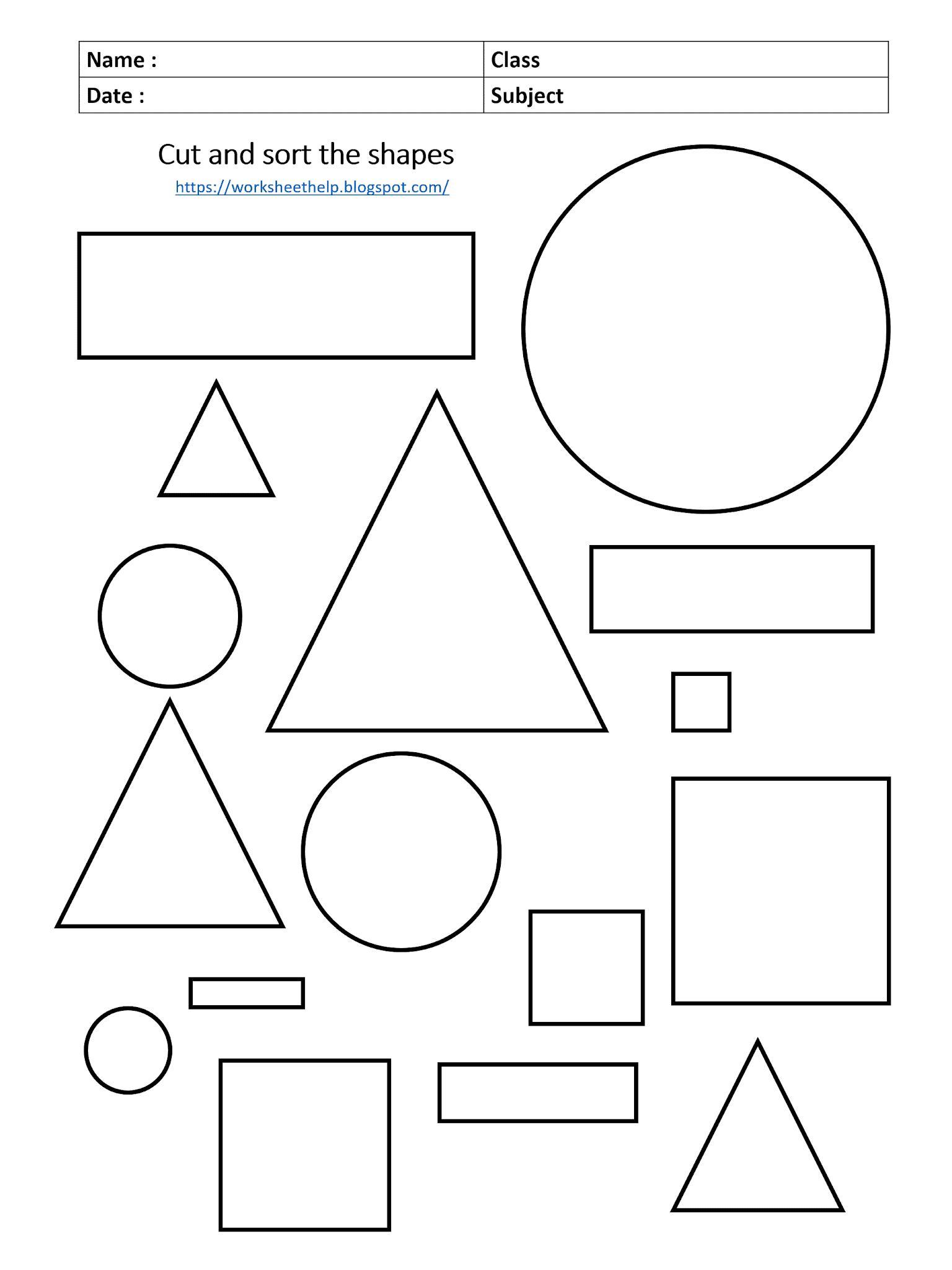 Math Shapes Worksheets For Grade 1