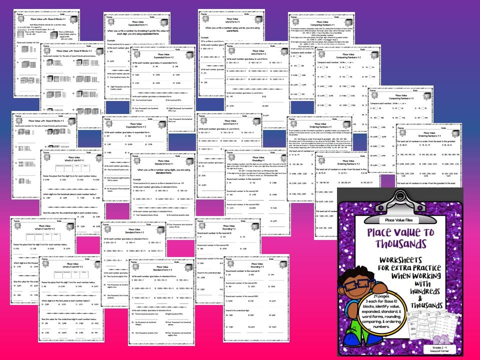 Math Worksheets Place Value 5th Grade