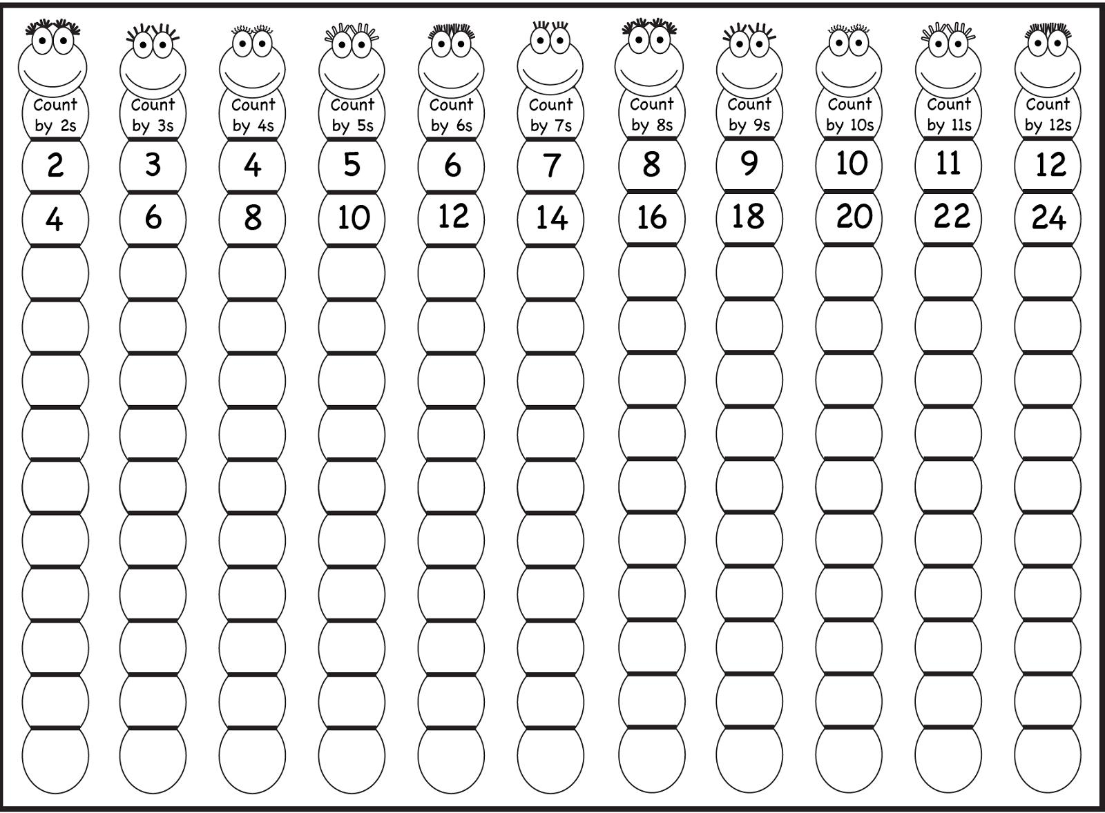 Math Worksheets Skip Counting 1