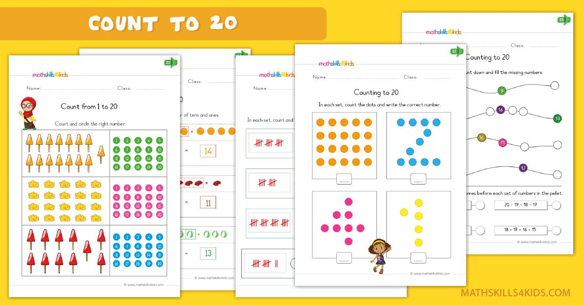 Math Worksheets Up To 20 2