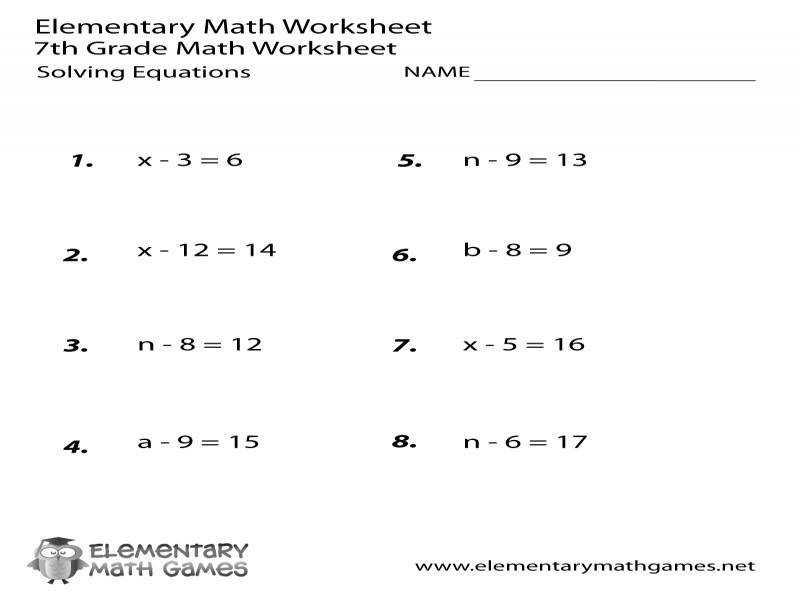 6th Grade Math Worksheets Evaluating Expressions