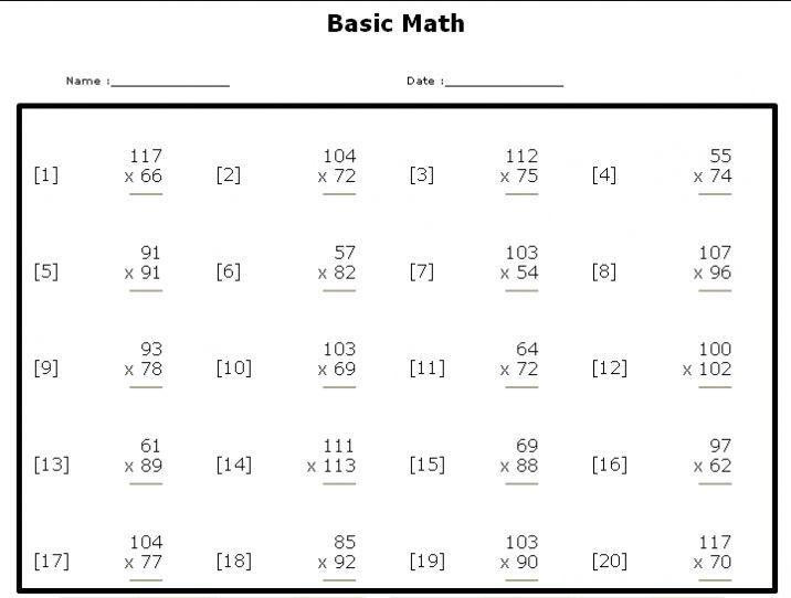 Algebra Equations Worksheets Grade 6