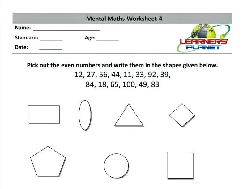 Algebra Worksheet For Class 6 With Answers