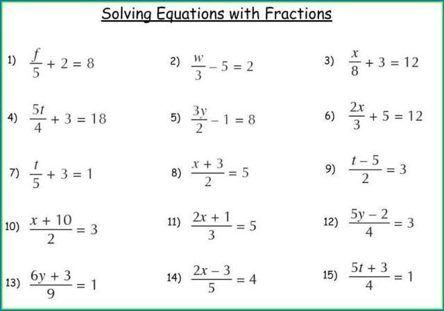 Algebraic Expressions Worksheets Grade 9