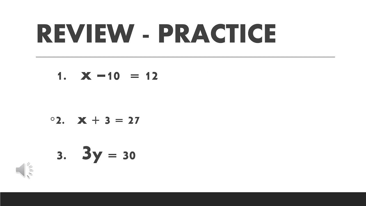 Free Math Worksheets Solve For X