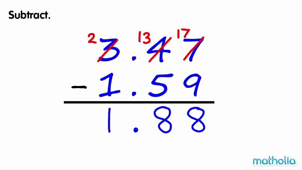 Free Math Worksheets Subtraction Across Zeros