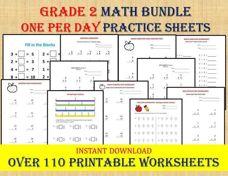 Math Worksheets Grade 2 Subtraction