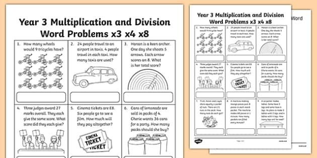 Math Worksheets Word Document 5