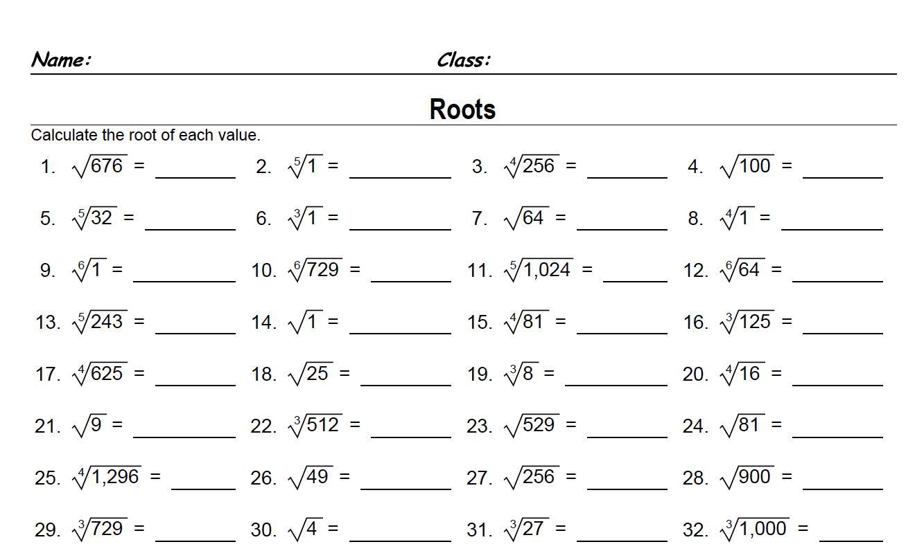 Math Worksheets Year 6 1