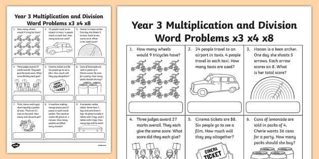X3 Math Worksheets 5