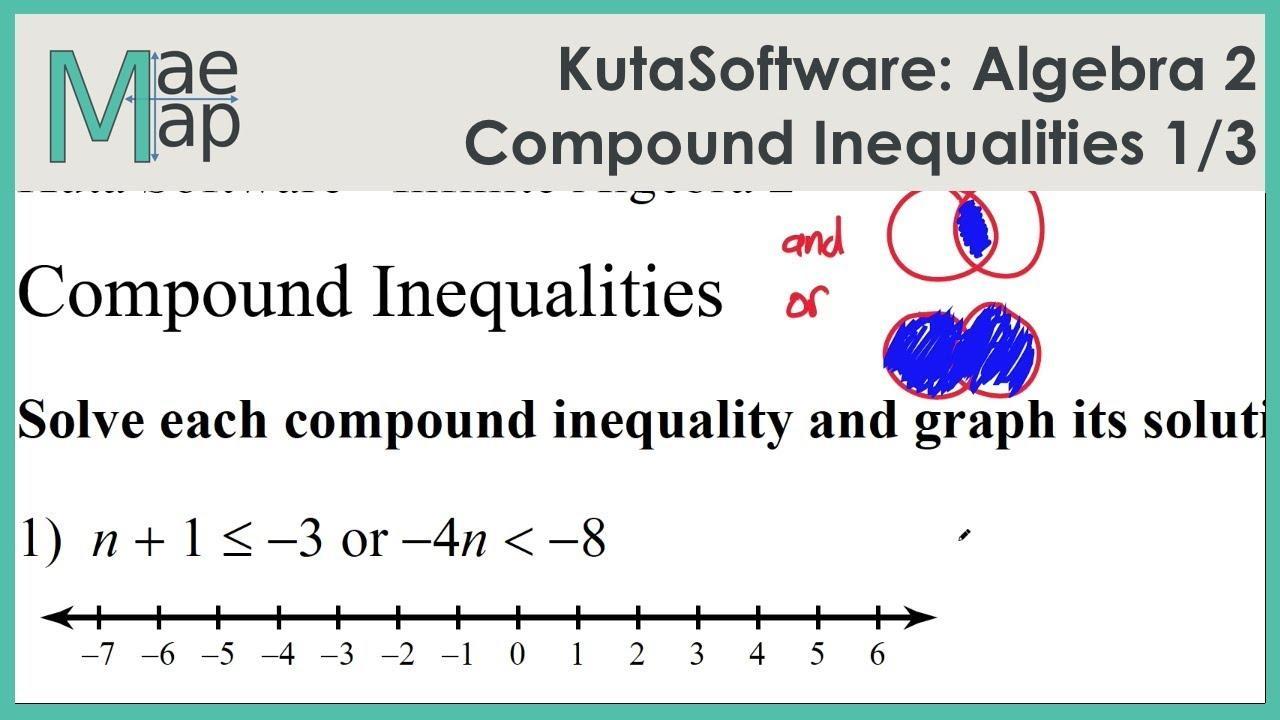 Algebra 1 Inequalities Worksheet Pdf