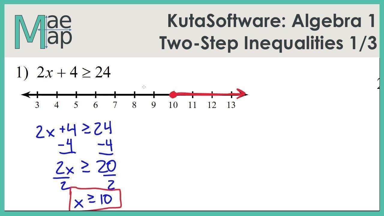 Algebra Inequalities Worksheet Pdf