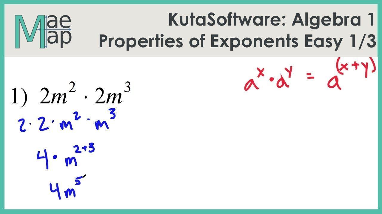Algebra Worksheets Exponents 1