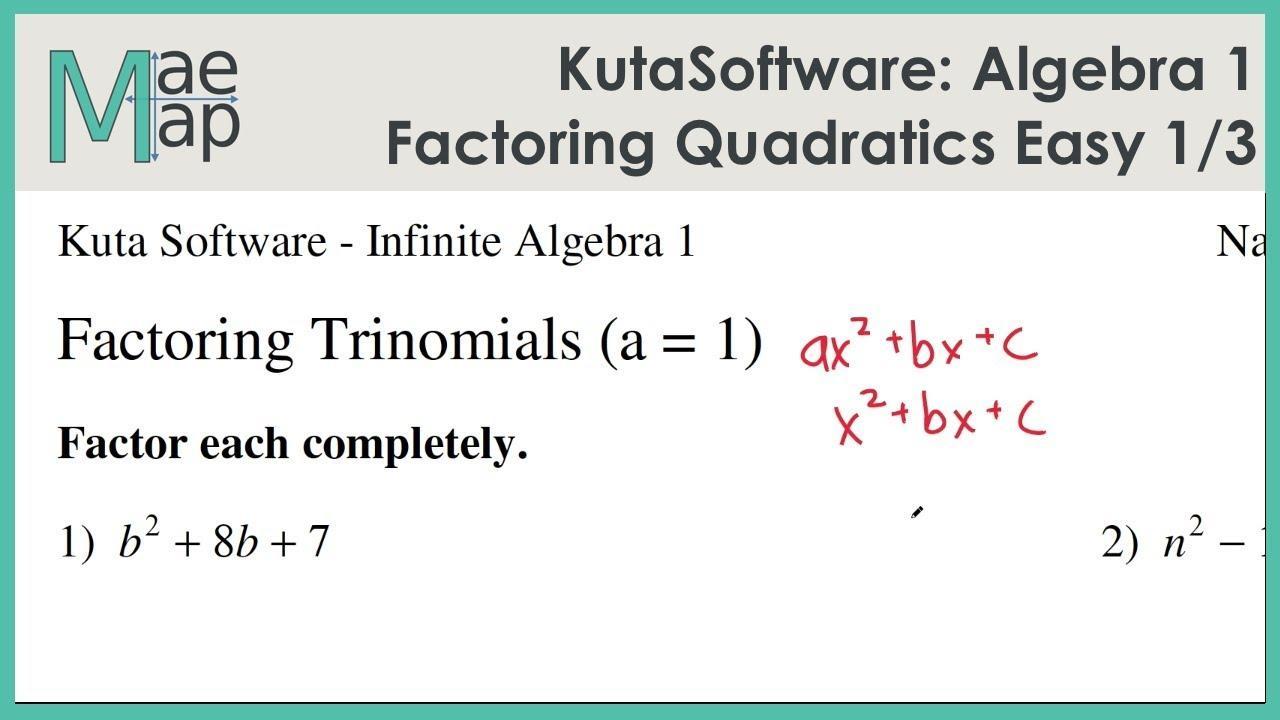 Algebra Worksheets Kuta 1