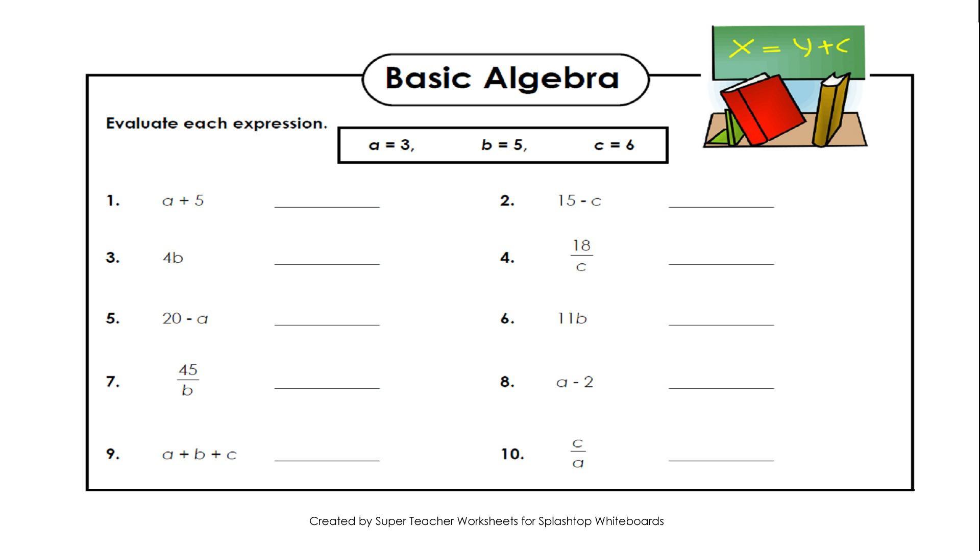 Algebra Worksheets Maths Made Easy