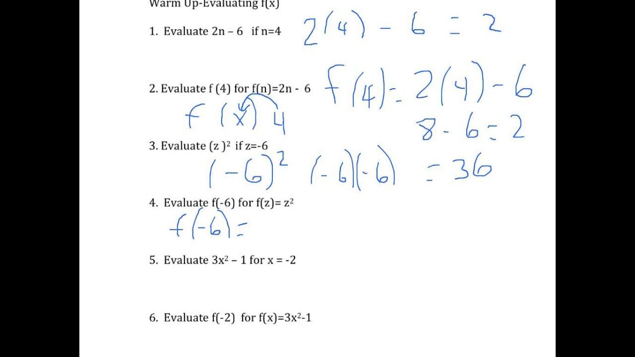 Algebra Worksheets With Answers For Grade 8