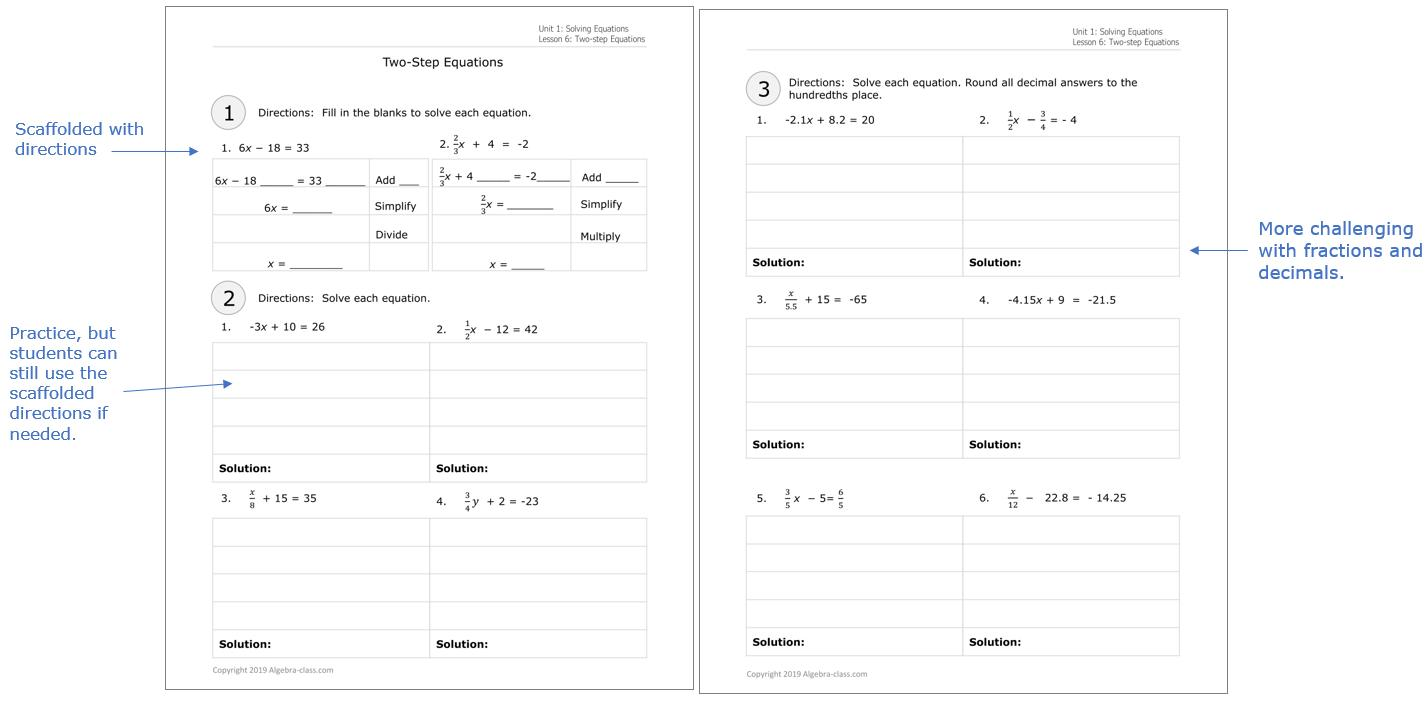 Algebra Worksheets With Answers Pdf