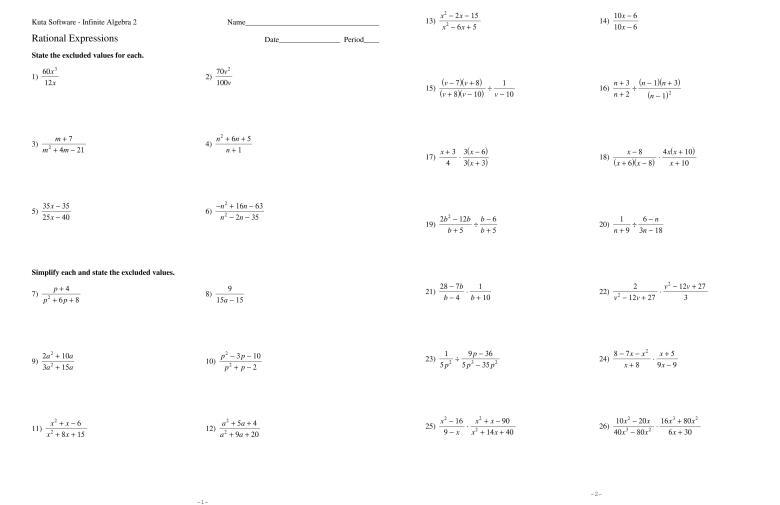 Algebraic Expressions Worksheet Class 7 Icse