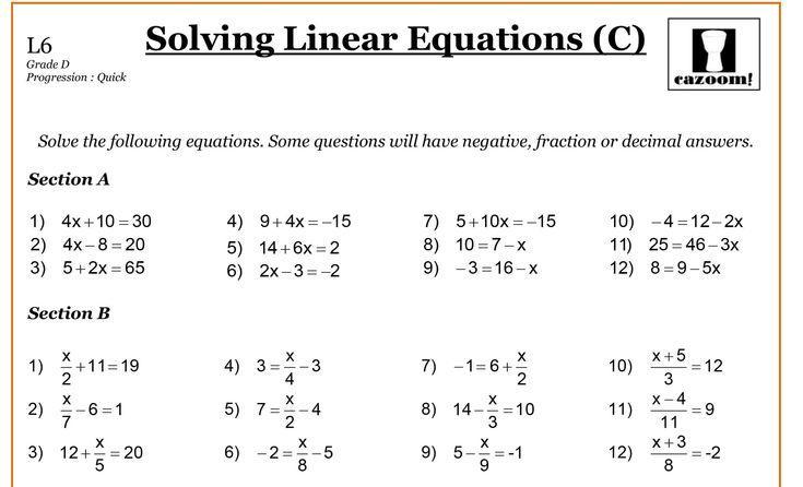 Introduction To Algebra Worksheets Pdf