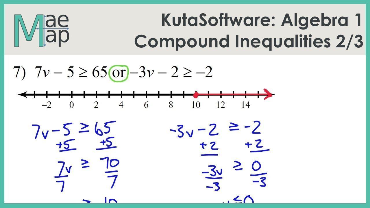 Pre Algebra Inequalities Worksheet Pdf