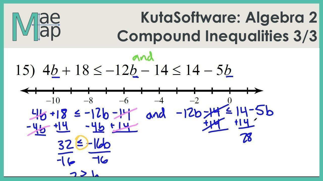 Solving Inequalities Worksheet Algebra 1