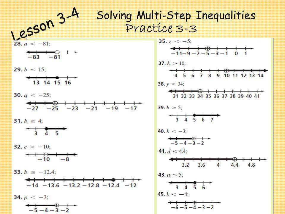 Solving Inequalities Worksheet Algebra 2