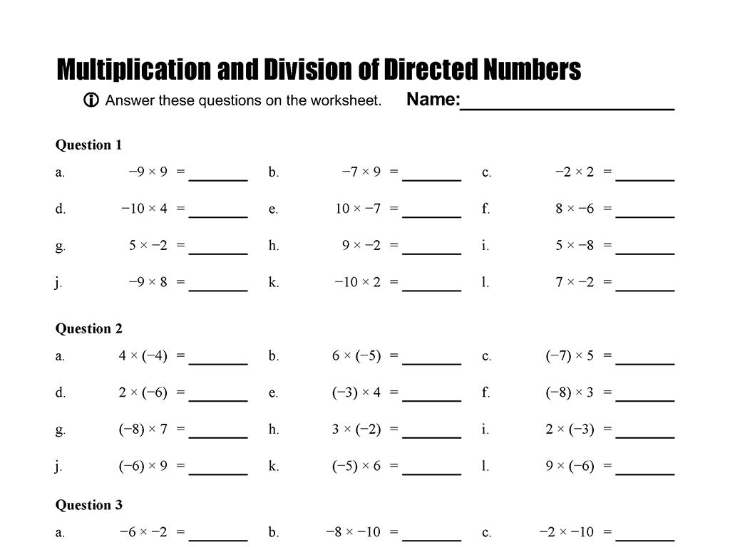 6th Grade Math Worksheets Multiplying And Dividing Fractions