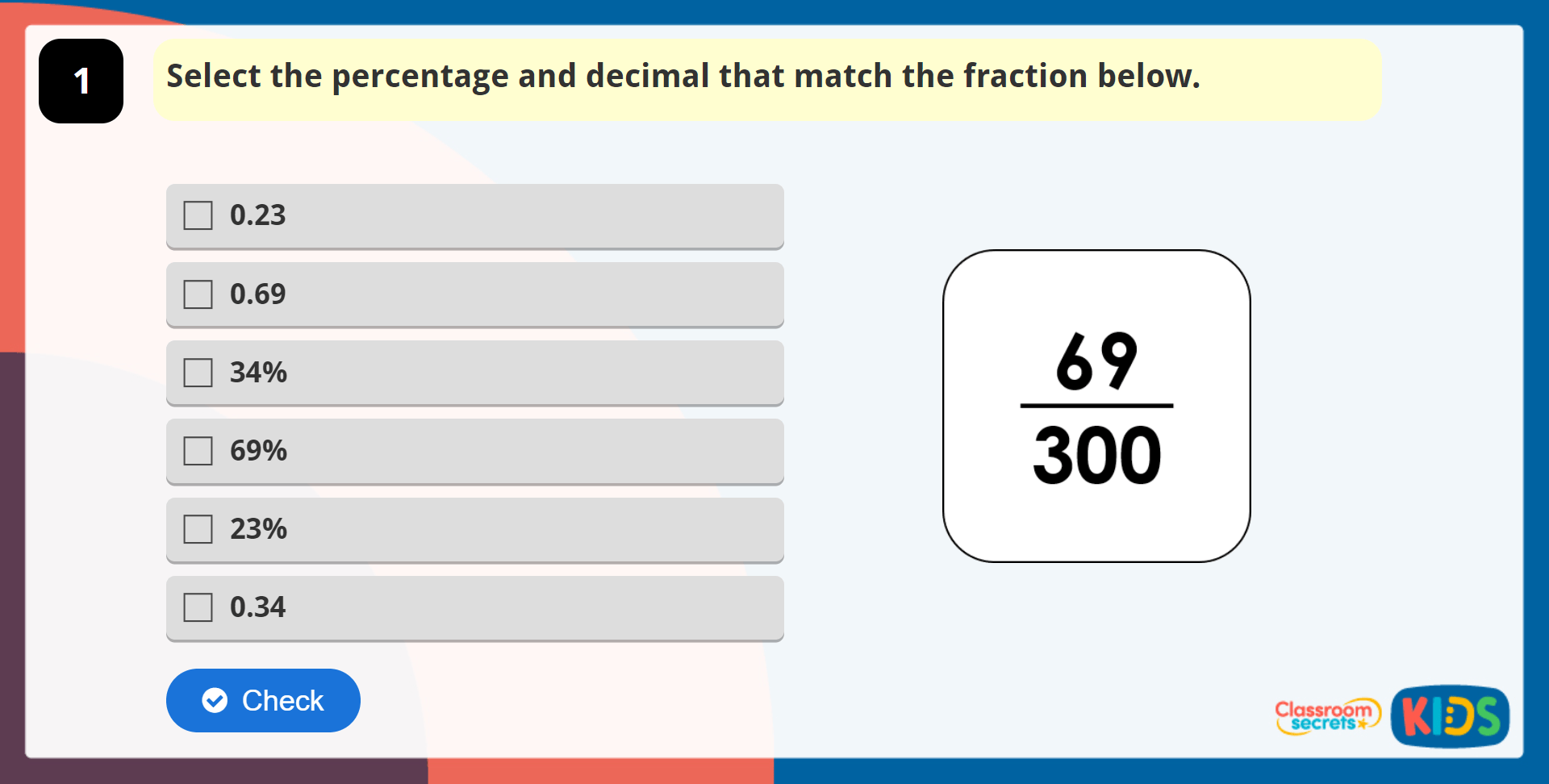 Year 5 Percentages As Fractions And Decimals