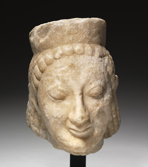 Greece, 6th Century BC - Archaic Head of a Sphinx - 1928.858 - Cleveland Museum of Art
