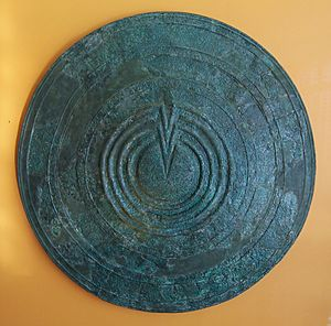 Bronze votive shield