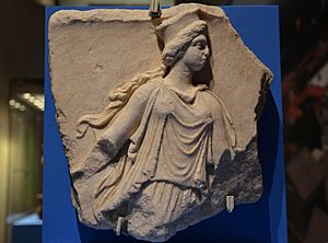 Fragment of a marble relief depicting a Kore, 3rd century BC, from Panticapaeum, Taurica (Crimea) (12853680765)