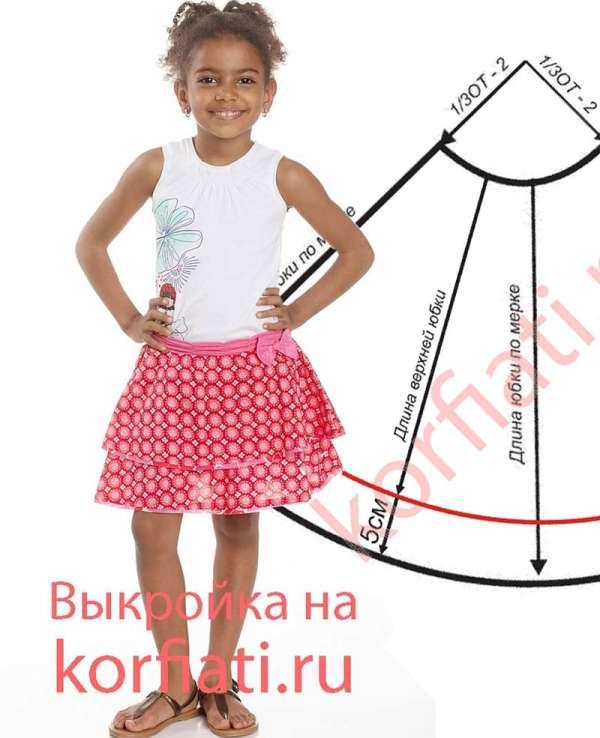 Юбка полусолнце для девочки от АКорфиати