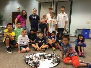 The kids of the 2015 Ridgewood Public Library robotics session