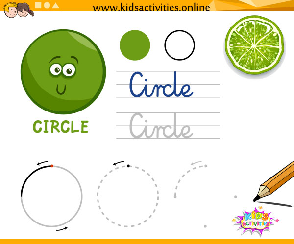 learn the shapes - tracing shapes worksheets