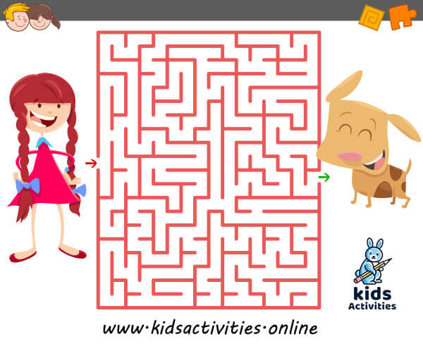 Printable mazes for toddlers