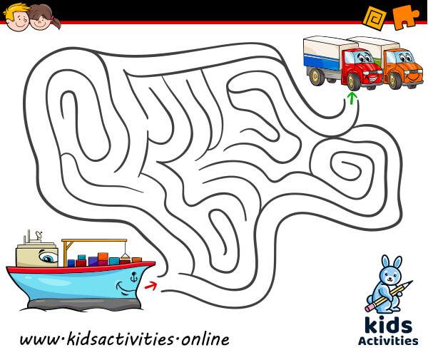 Mazes for preschoolers printable
