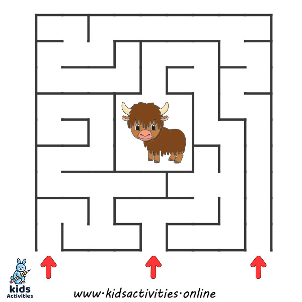 free Printable mazes for 4 year olds