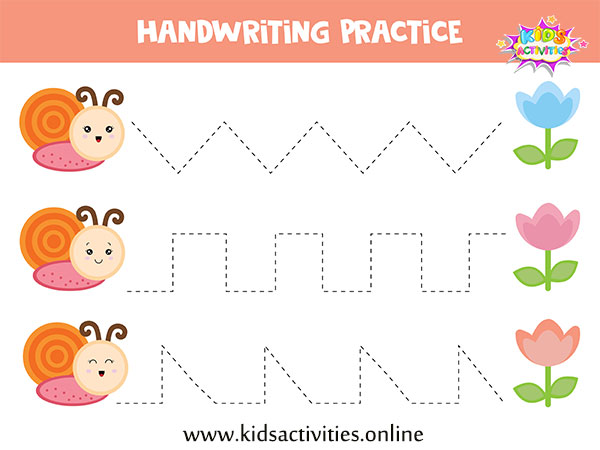 Tracing Lines practice printable for toddlers preschool