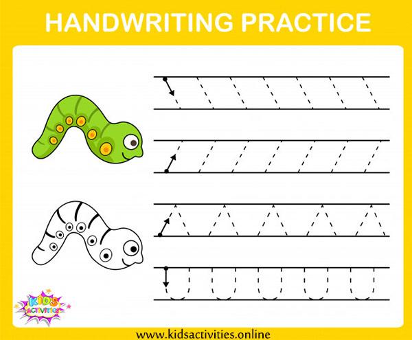 Handwriting Practice Sheets Kindergarten - Free Printable ⋆ Kids Activities