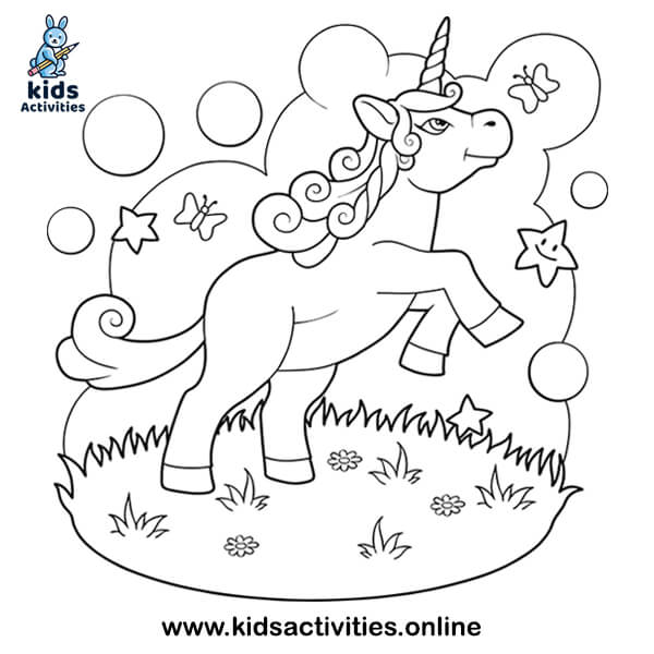 The Fairy unicorn Coloring Book For Preschoolers